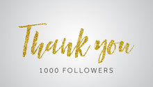 Thank You 1000 Follwers Gold G...