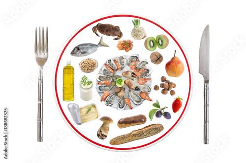Allergy food concept Canvas Print