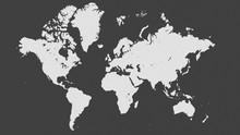 Simple Monochrome World Map