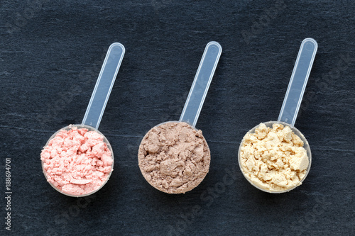Fotografia Scoops with protein powder