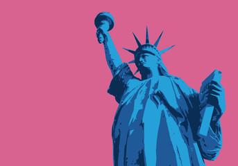 Fototapeta Statue de la liberté - New York - symbole, américain - décoration - déco - fond