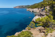 Palma de Mallorca, the sea overlooking the rocky mountains. the sea on Palma de Mallorca