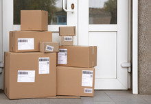 Delivered Parcels On Floor Nea...