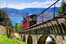 Lugano Standseilbahn Und Lugan...