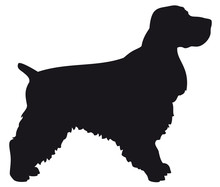 Cocker Spaniel - Vector Black ...