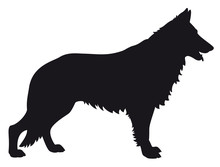 German Shepherd - Vector Black...