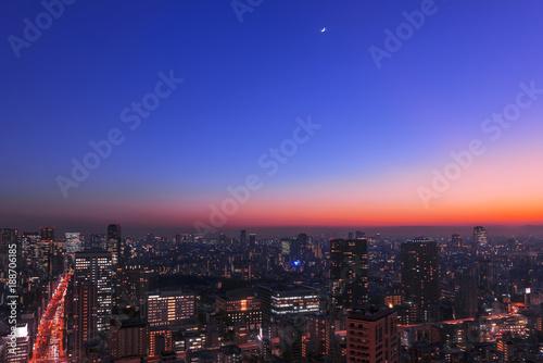 Spoed Foto op Canvas Tokyo 東京の夜空