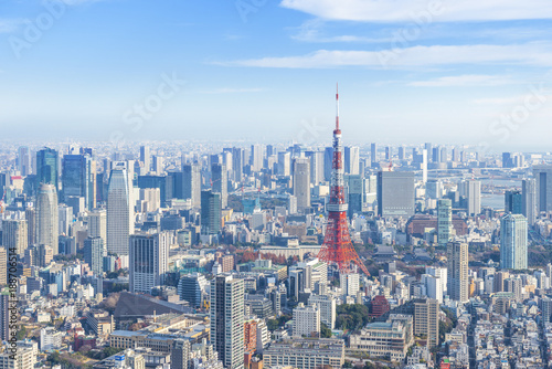 Fototapeta premium Tokyo Tower i pejzaż miasta