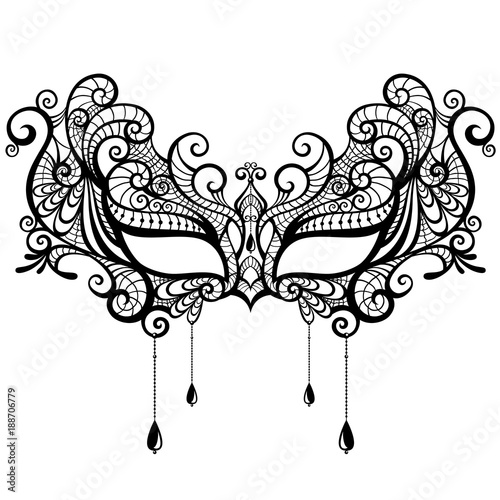 Beautiful Lace Masquerade Mask Isolated On White Background Buy This Stock Vector And Explore Similar Vectors At Adobe Stock Adobe Stock