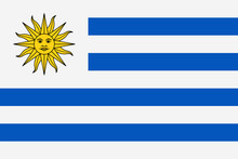 Uruguay Flag Vector Flat Icon