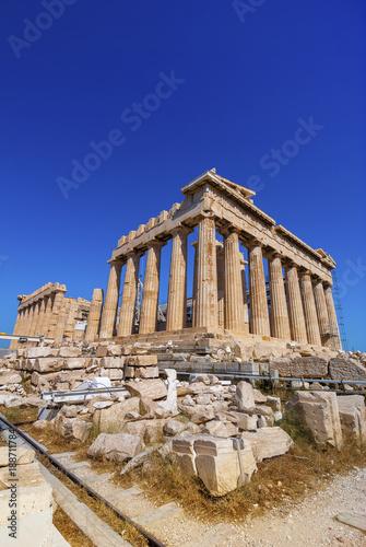 Spoed Fotobehang Bedehuis The Parthenon on the Athenian Acropolis, Greece