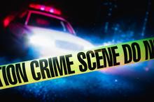 Police Car At A Crime Scene Wi...