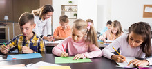 Teacher And Elementary Age Kid...