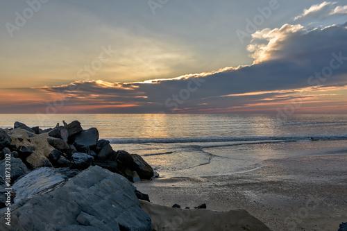 Láminas  Serene ocean sunset