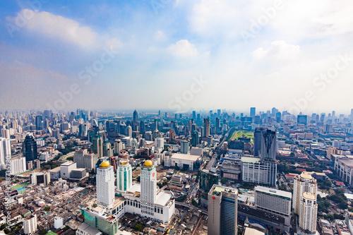 BANGKOK - THAILAND - DECEMBER 15, 2013: Aerial view of Bangkok buildings, Bangko Poster