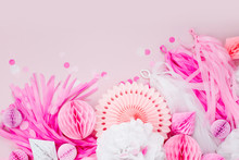 Pink And White Paper Decoratio...