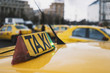 Taxi sign in detail