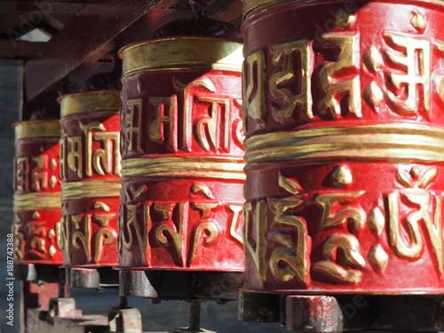 Staande foto Nepal Moulins à prière, Népal