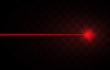 Abstract Red Laser Beams. Isol...