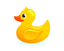 Yellow Rubber Duck Toy Vector ...