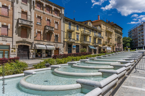 Old town of Acqui Terme Canvas Print