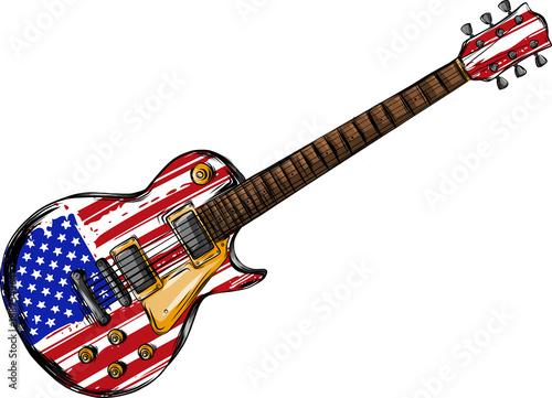 Obraz na plátně  American guitar