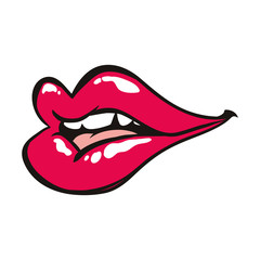 Sexy women lips cartoon