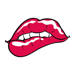 Sexy women lips cartoon