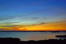 Orange Sunset Sky Over The Est...