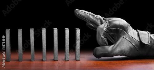 Fotografie, Obraz  Domino effect