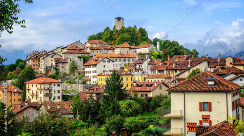 Feltre historical Old Town in Dolomites Alps, Italy Wallpaper Mural