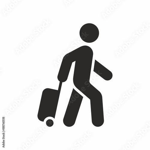 Fotografie, Obraz  Tourist vector icon