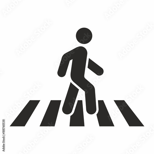 Foto Pedestrian crossing icon