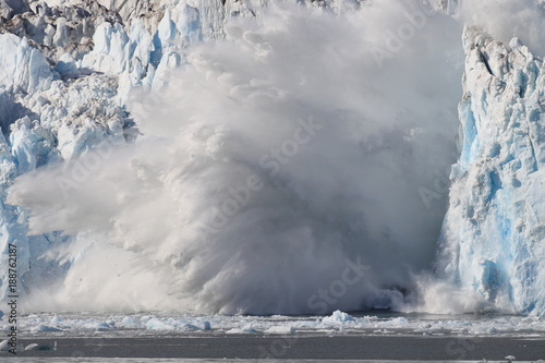 Columbia Glacier, Columbia Bay, Valdez, Alaska Poster