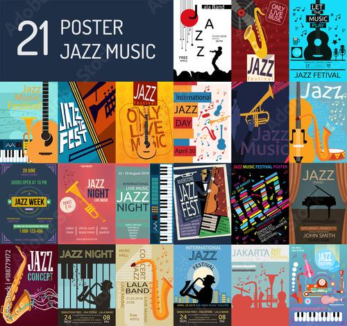 Jazz Music Poster Canvas Print