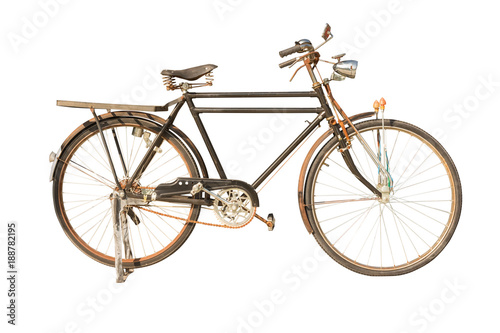 Retro bike,isolated on white background with clipping path.
