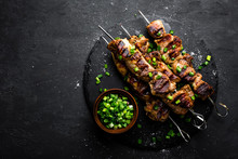 Grilled Meat Skewers, Shish Ke...