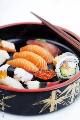 Fotobehang Sushi bar Sushi box