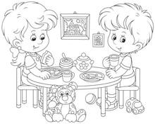 Little Children At Breakfast I...
