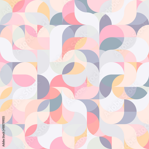 Fotografie, Obraz  Abstract vector colorful geometric harmonic wave background