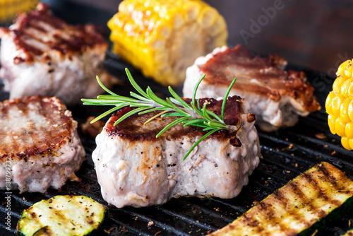 In de dag Grill / Barbecue Barbecue - Grillen - Fleisch - Catering - Buffet