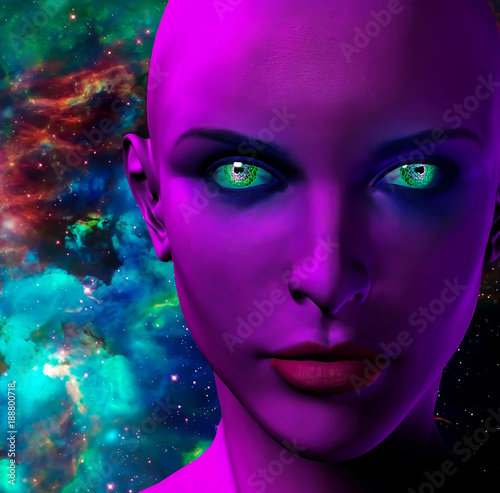 Fototapety, obrazy: The face of an alien