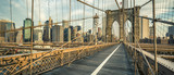Famous Brooklyn Bridge in the morning - 188801149