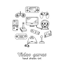 Hand Drawn Doodle Video Games ...