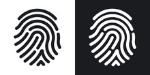Fingerprint Icon. Simple Vecto...