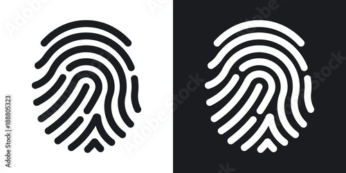 Fotografía Fingerprint icon