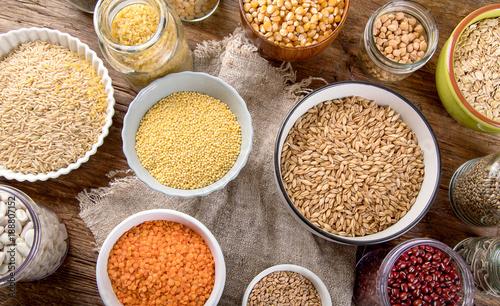 Ancient grains, seeds, beans