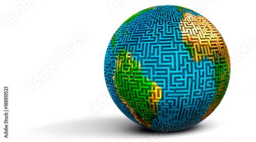 Fotografie, Obraz  Globe Maze