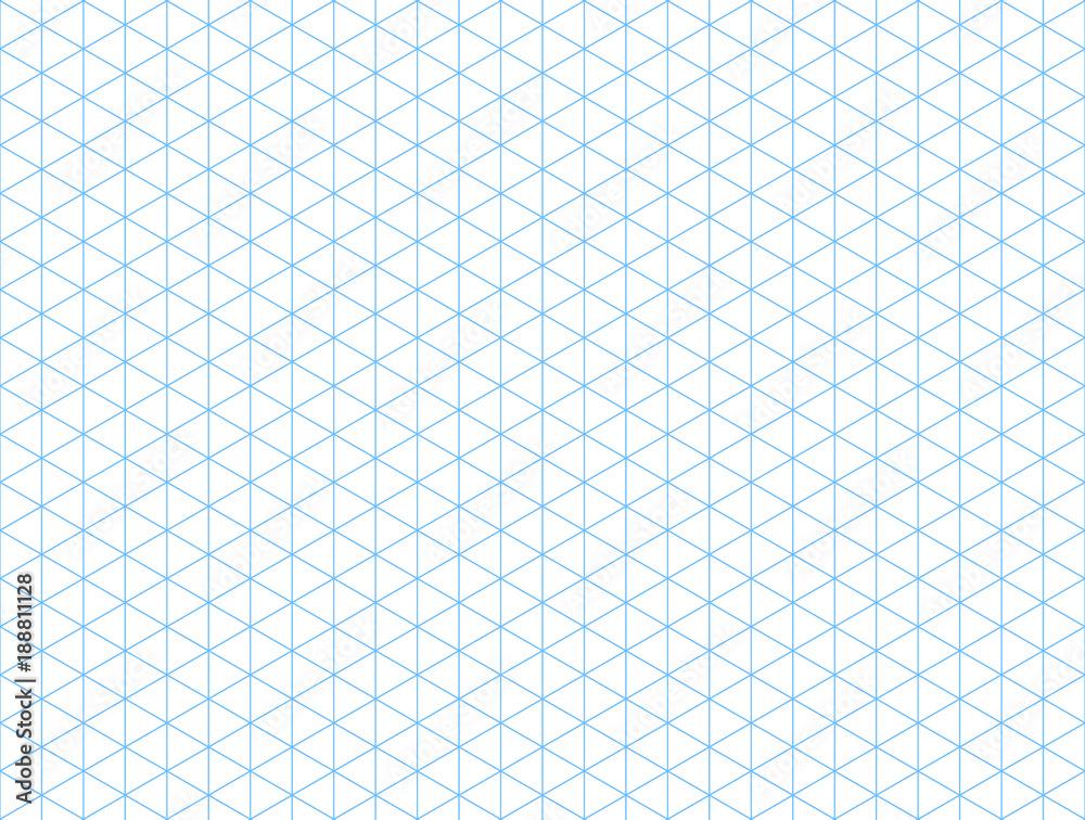 Fototapety, obrazy: Seamless isometric blue grid backdrop