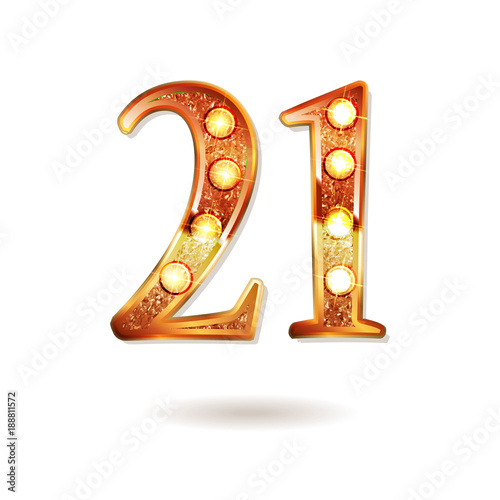 Papel de parede Celebrating of 21 years anniversary